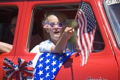 Annual 4th of July Parade in Ojai royalty free stock images