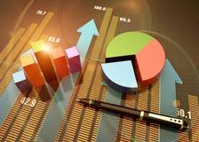 Annual balance concept Royalty Free Stock Photos