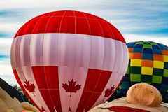 Annual balloon festival in Sussex, New Brunswick, Canada. Big event every year stock photos