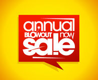 Annual blowout sale, speech bubble banner Stock Photos