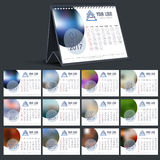 Annual Calendar design of New Year. Annual Calendar design for Happy New Year 2017 celebration Stock Images