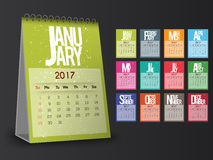 Annual Calendar for 2017. Stock Photography