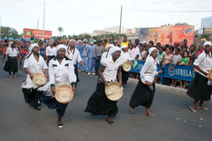 The annual Carnival in Cape Verde Royalty Free Stock Photo
