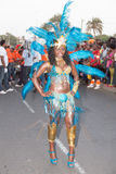 The annual Carnival in the capital in Cape Verde, Praia. Royalty Free Stock Images