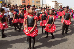 The annual Carnival in the capital in Cape Verde, Praia. Royalty Free Stock Photos