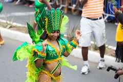 The annual Carnival in the capital in Cape Verde, Praia. Royalty Free Stock Image