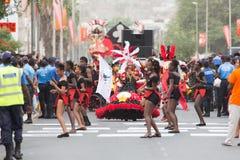 The annual Carnival in the capital in Cape Verde, Praia. Stock Photo