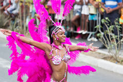 The annual Carnival in the capital in Cape Verde, Praia. Royalty Free Stock Photography