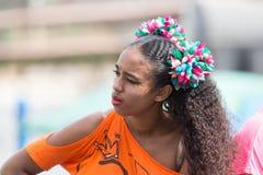 The annual Carnival in the capital in Cape Verde, Praia. Stock Photos
