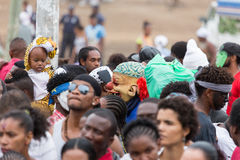 The annual Carnival in the capital in Cape Verde, Praia. Royalty Free Stock Photo