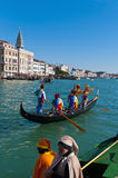 Annual Carnival performed at Venice, Italy Stock Images