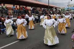 Annual carnival in Riobamba Royalty Free Stock Image