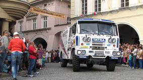 Annual celebration of Novy Jicin - Tatra 815 of team Tatra Slova Stock Images