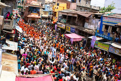 Annual chariot festival Raathyatra, Ahmedabad, India. Stock Images