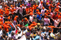 Annual chariot festival Raathyatra, Ahmedabad, India. Royalty Free Stock Image