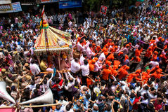 Annual chariot festival Raathyatra, Ahmedabad, India. Stock Photos