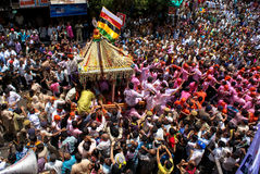 Annual chariot festival Raathyatra, Ahmedabad, India. Royalty Free Stock Photo