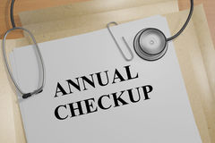 Annual Checkup - medical concept Royalty Free Stock Images