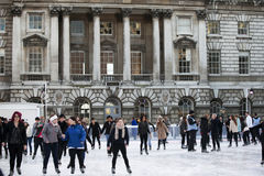 Annual Christmas Ice Rink at the Historic Somerset House Royalty Free Stock Photos