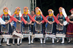 Annual event with traditional dance Royalty Free Stock Image