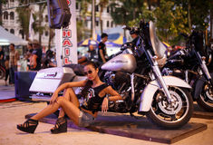Annual festival of bikers on Phuket in Thailand Royalty Free Stock Images