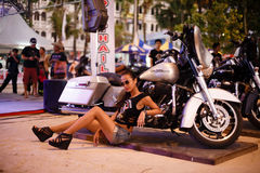 Annual festival of bikers on Phuket in Thailand Royalty Free Stock Photo