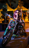 Annual festival of bikers on Phuket in Thailand Stock Image