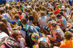 The annual festival of colors ColorFest stock photography
