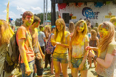 The annual festival of colors ColorFest stock photos
