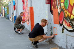 The annual festival of graffiti in St. Petersburg Stock Photography