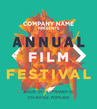 Annual film festival. Web banner or print poster for annual film festival announcement. great concept for movies advertisement. vector illustration, vector Stock Images
