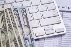 Annual finacial report Stock Image