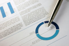 Annual financial report Stock Images
