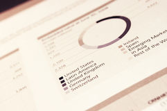 Annual financial report Royalty Free Stock Images