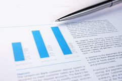 Annual financial report. And pen Royalty Free Stock Photography