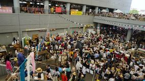 Annual flea market in Tokyo, Japan royalty free stock photography