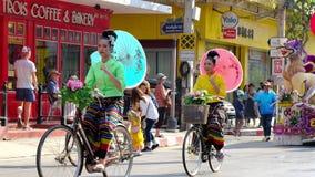 Annual flower festival parade in Chiang mai, Thailand.