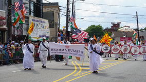 2015 annual India Day parade in Edison, New Jersey. EDISON, NJ - AUG 9: The 11th annual India Day parade was held on August 9th, 2015, in Edison, New Jersey. It Stock Photos