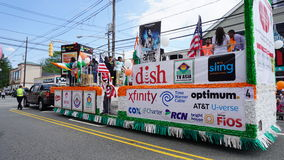 2015 annual India Day parade in Edison, New Jersey. EDISON, NJ - AUG 9: The 11th annual India Day parade was held on August 9th, 2015, in Edison, New Jersey. It royalty free stock photography