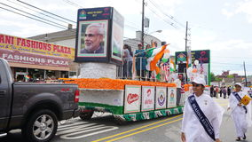 2015 annual India Day parade in Edison, New Jersey. EDISON, NJ - AUG 9: The 11th annual India Day parade was held on August 9th, 2015, in Edison, New Jersey. It royalty free stock image