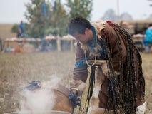 Annual international gathering of shamans on Lake Baikal, Olkhon Island. Royalty Free Stock Images