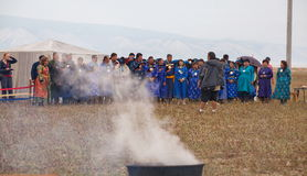 Annual international gathering of shamans on Lake Baikal, Olkhon Island. Stock Image