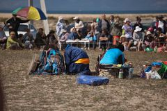 Annual international gathering of shamans on Lake Baikal, Olkhon Island. Stock Photography