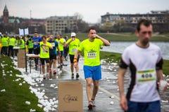 Annual Krakow International Marathon Stock Photo