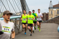 Annual Krakow International Marathon Stock Photography