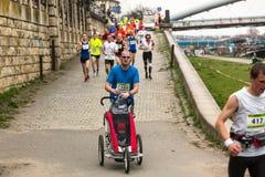 Annual Krakow International Marathon Stock Photography