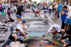Annual Lake Worth Florida Street Painting Festival Royalty Free Stock Photos