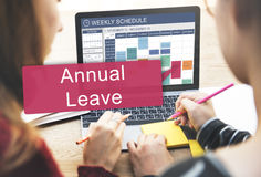 Annual Leave Holiday Leisure Recover Relax Concept Stock Image
