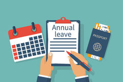 Annual leave vector Royalty Free Stock Image