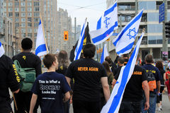 The Annual Marsh Walk with Israel in Toronto Royalty Free Stock Image